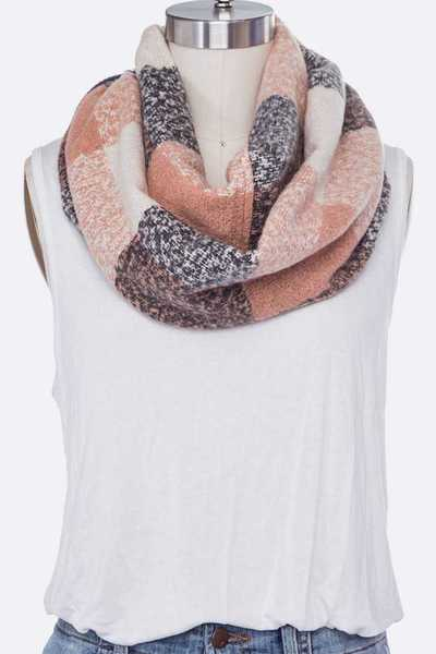 Mix Color Infinity Scarf Set