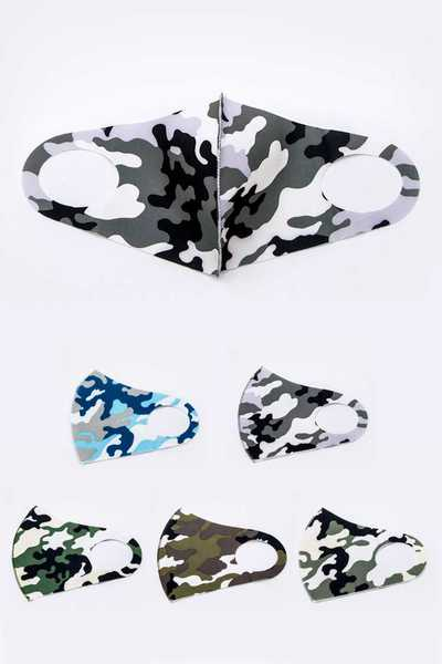 Adult Camouflage Printed Fabric Mask