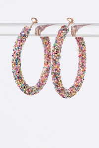Glitter Iconic Hoop Earrings Set