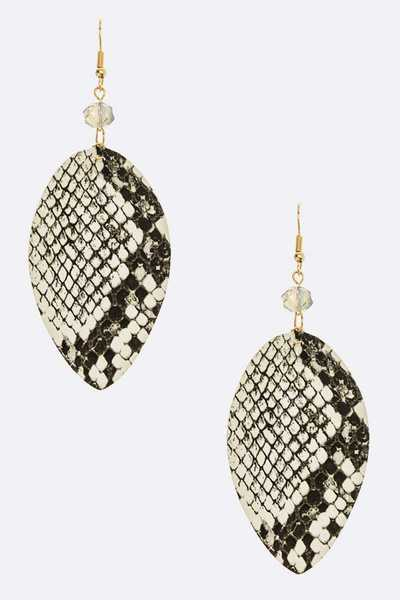 Snake Printed Fashion Earrings