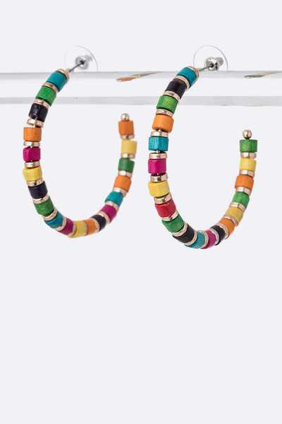 Mix Color Iconic Hoop Earrings