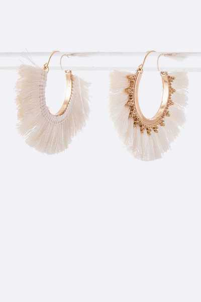 Iconic Tassel Hoops