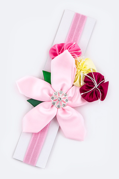 Mix Flowers Kids Size Stretch Headband