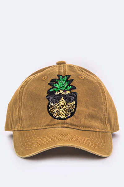 Toddler Size Pineapple Sequins Cap