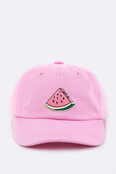 Kid Size Watermelon Embroidery Cap