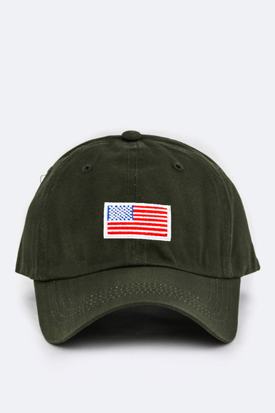 Kids Size US Flag Embroidery Cap