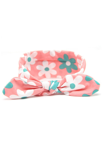 Kids Size Daisy Pattern Turban Knot Headband