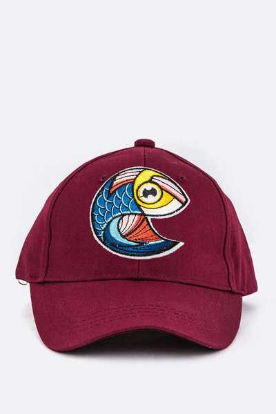 Kids Size Fish Embroidery Cap
