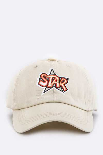 Kids Size Star Embroidery Cap