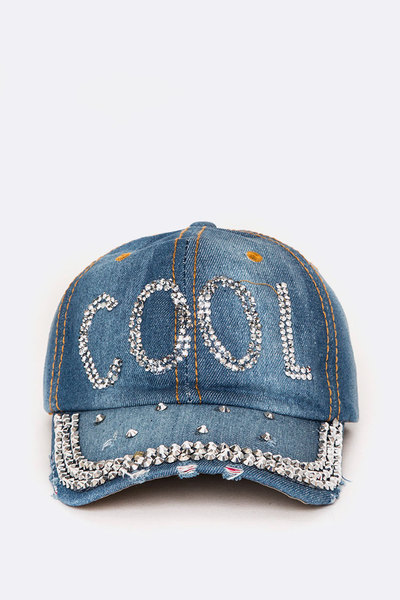 COOL Crystal Denim Cap