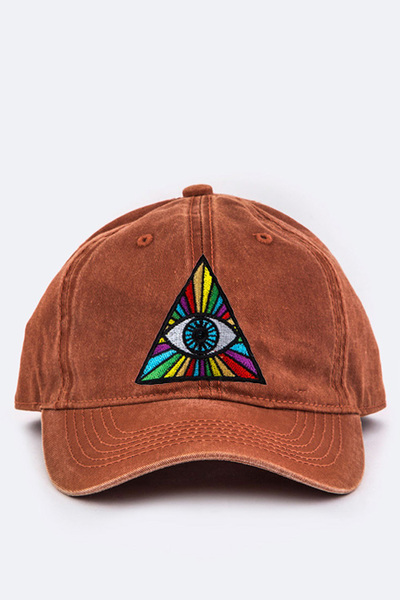 Eye Of Providence Embroidery Cotton Cap