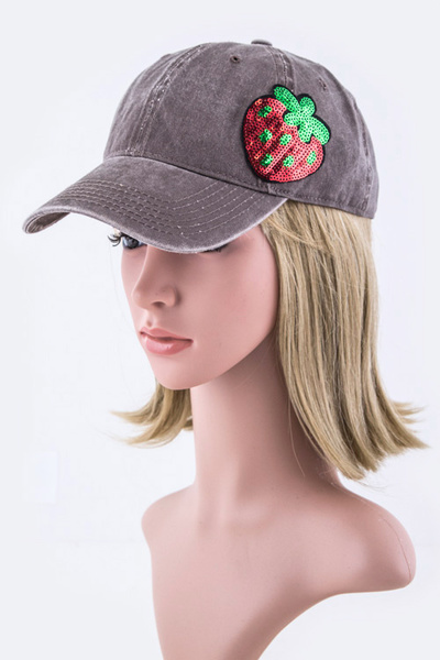 Sequins Strawberry Fashion Cap