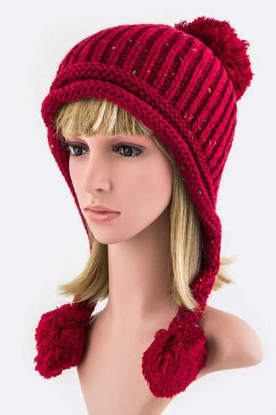 PomPom Drops Fashion Beanie