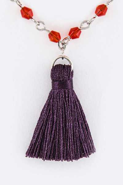 Bead & Tassel Necklace