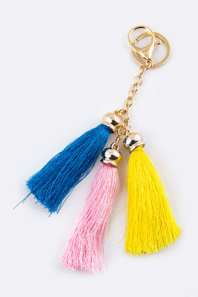 Triple Tassels Key Charm