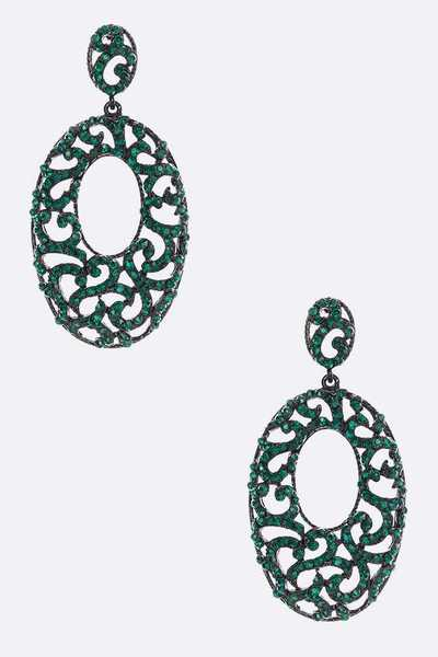 Crystal Oversize Statement Earrings