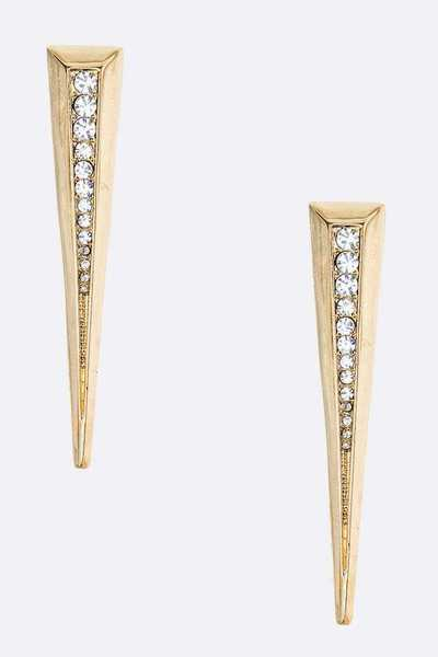 Iconic Spear Crystal Earrings