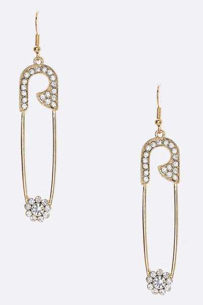 Crystal Pin Drop Iconic Earrings