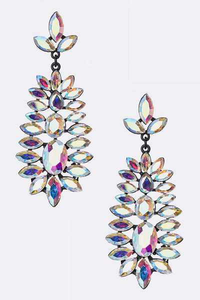 Crystal Marquise Statement Earrings