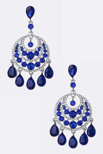 Sapphire Crystal Chandelier Earrings