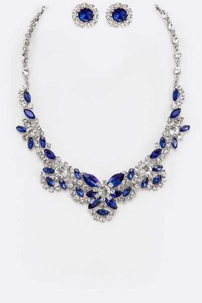 Crystal Collar Statement Necklace Set