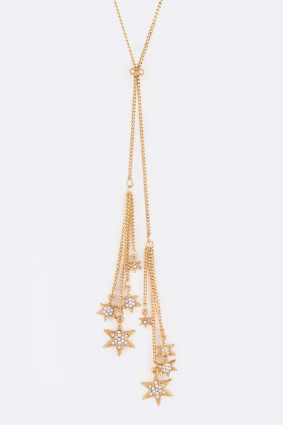 Fringe Stars Adjustable Layered Necklace