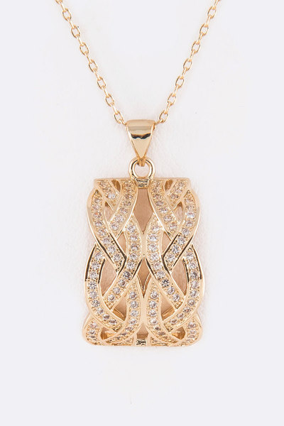 CZ Pendant Iconic Necklace