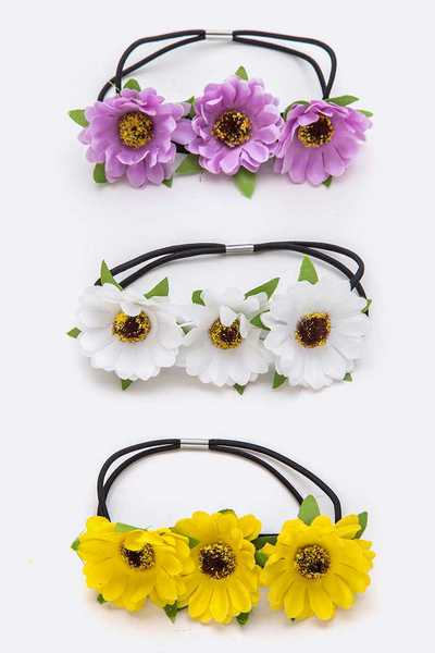 Flower Daisy Hairband Set