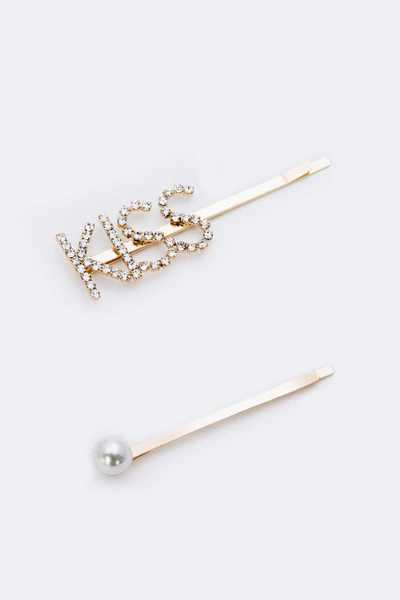 KISS Rhinestone Hair Clip Set