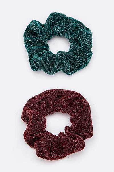 Glitter Scrunchy Hair Tie Set