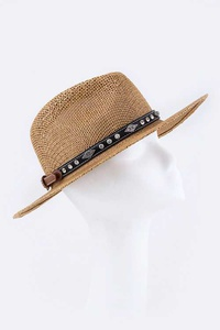 Western Mix Studs Adjustable Hat Band