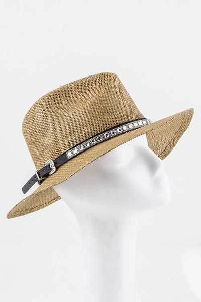 Crystal Baguette Buckel Hat Band