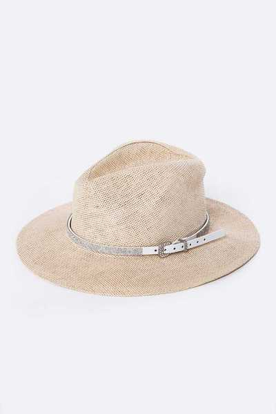 Crystal Leather Hat Belt