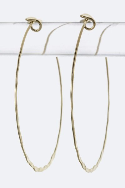 Skinny Wired Hoop Earrings