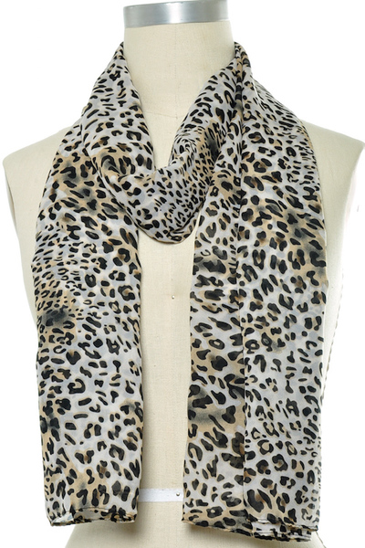 Animal Print Oblong Scarf Set