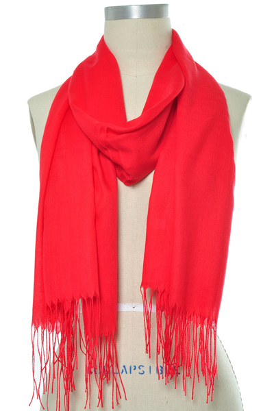 Fringe Solid Color Scarf Set