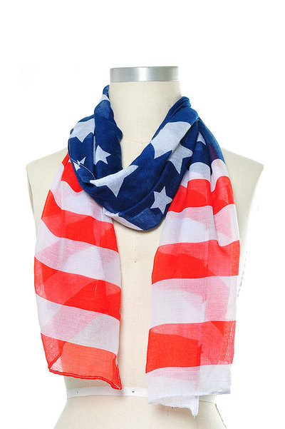 American Flag Oblong Scarf Set