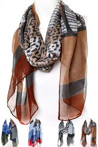 Mix Animal Print Scarf