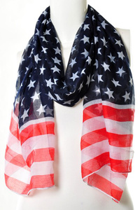 American Flag Light Weight Scarf