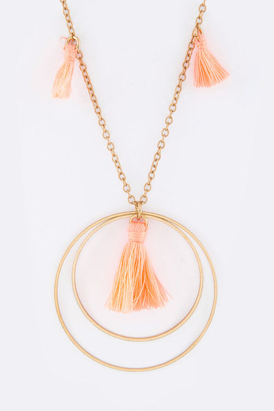 Tassels & Layer Hoop Necklace