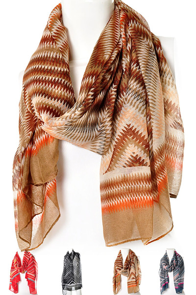 Ziggy Printed Abstract Oblong Scarf