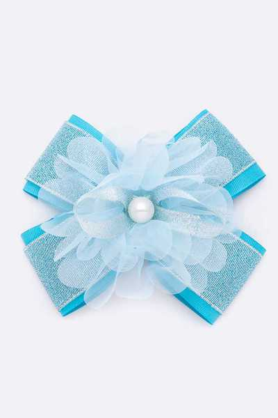 Large Mix Ribbon Flower Bow Clip Set