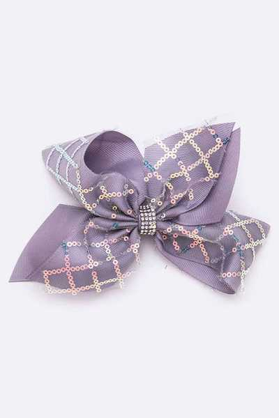 Large Sequins Bow Clip Set