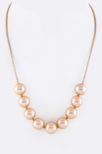 Pearls Slider Classic Necklace