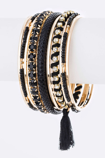 Crystal Iconic Bangle Set