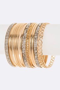 Mix Texture Stacking Bangle Set