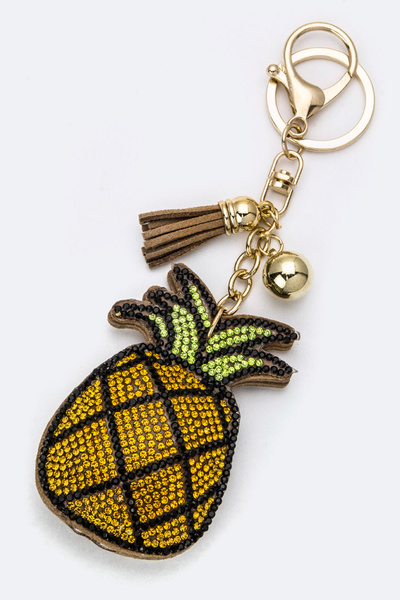 Soft Crystal Pineapple Key Charm