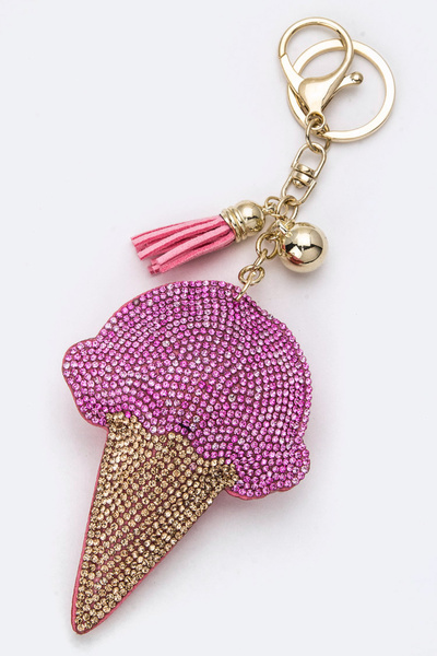Soft Crystal Ice Cream Key Charm