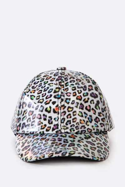 Leopard Printed Fashion PU Cap