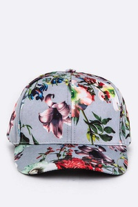 Floral Print Fashion Cap